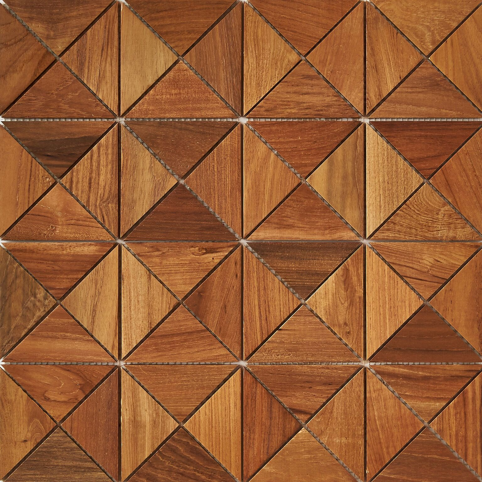 natural matte finish 8 - Teak Tile - Crosscut
