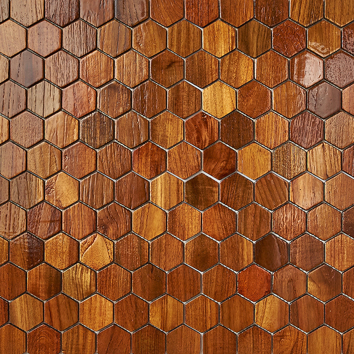 natural resin finish 1 - Teak Tile - Honeycomb