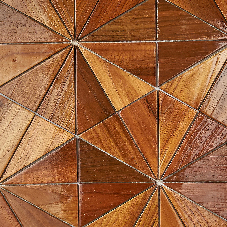 natural resin finish 7 - Teak Tile - Starburst