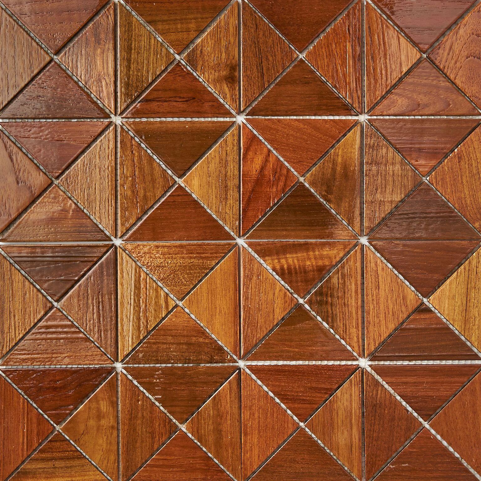 natural resin finish 8 - Teak Tile - Crosscut