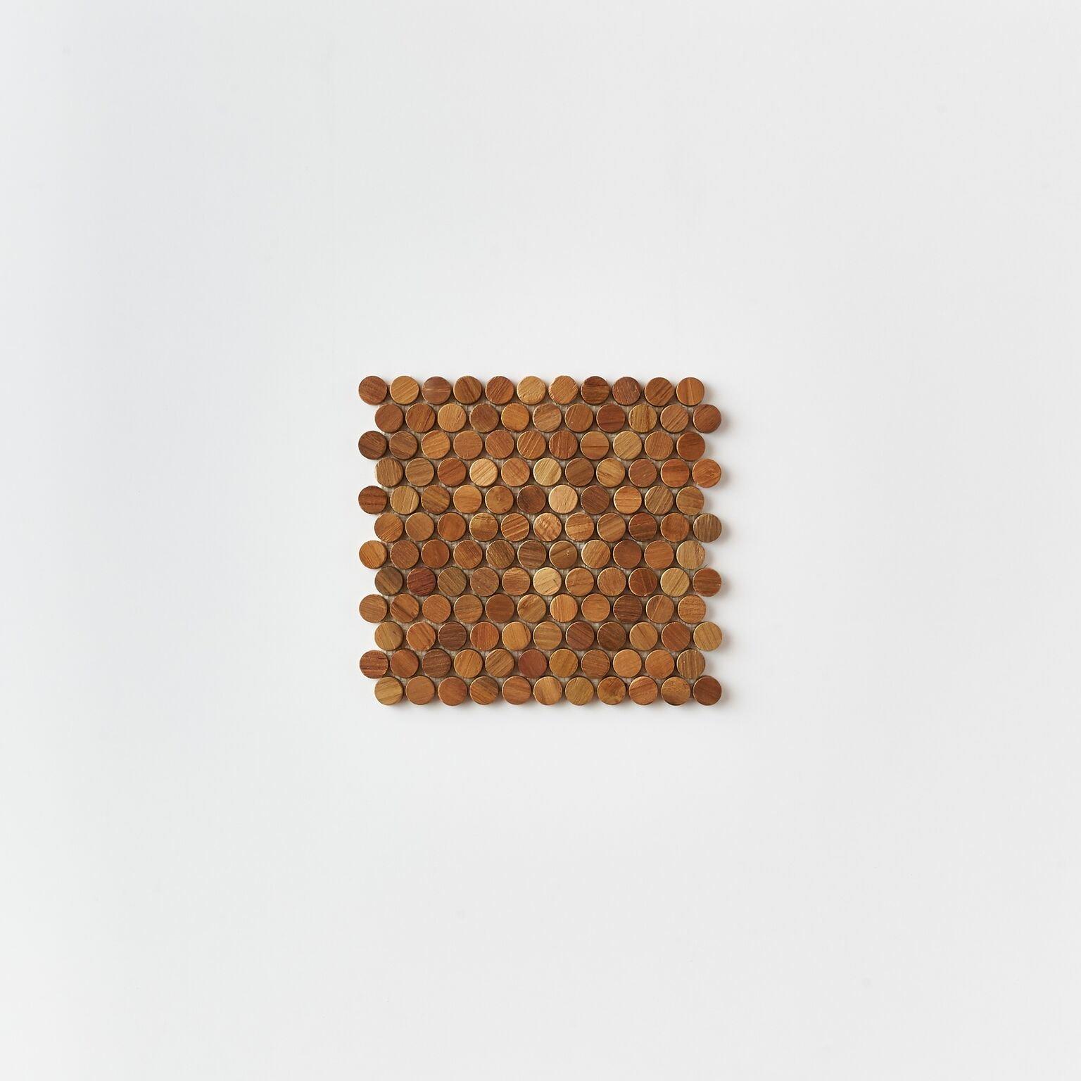 natural single tile 3 - Teak Tile - Bead