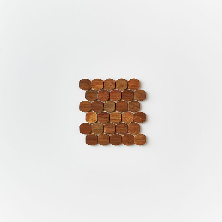 natural single tile 5 - Teak Tile - Cask