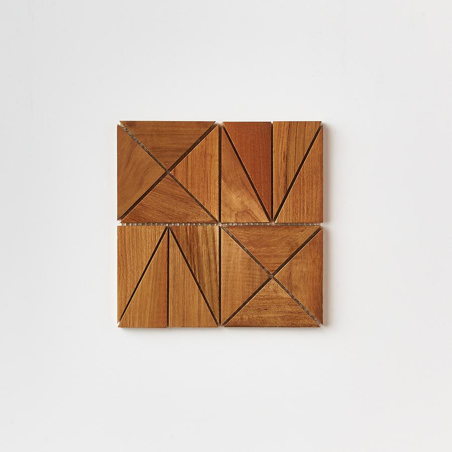 natural single tile 6 - Teak Tile - Rune