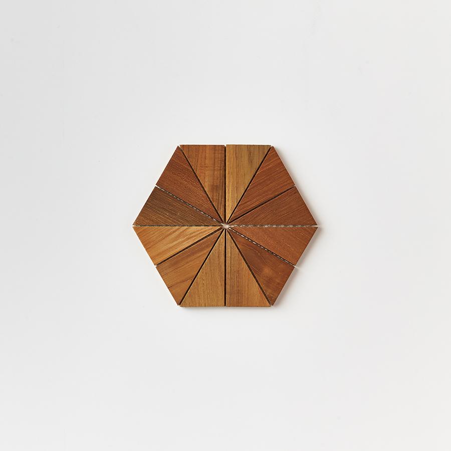 natural single tile 7 - Teak Tile - Starburst