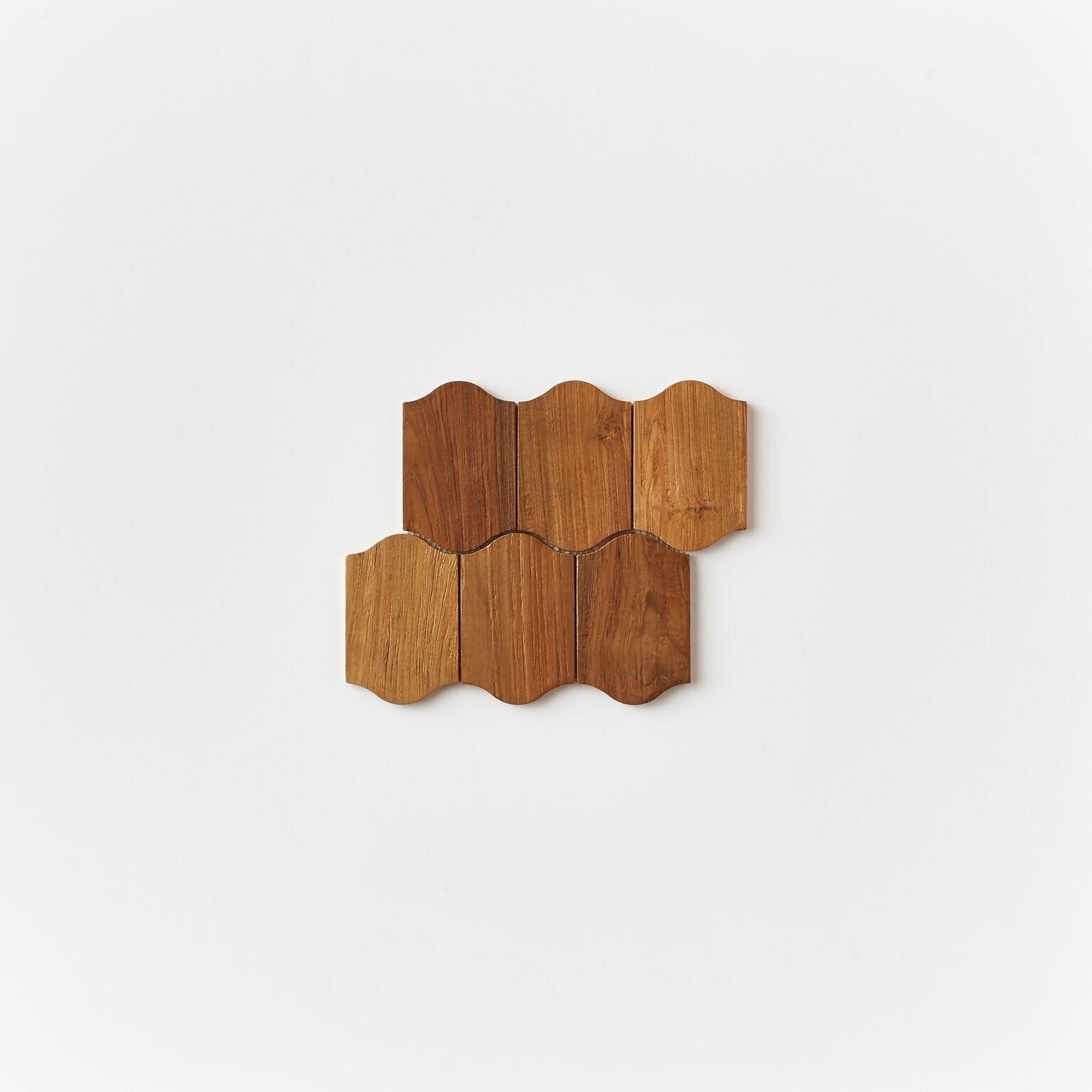 natural single tile 9 - Teak Tile - Apron