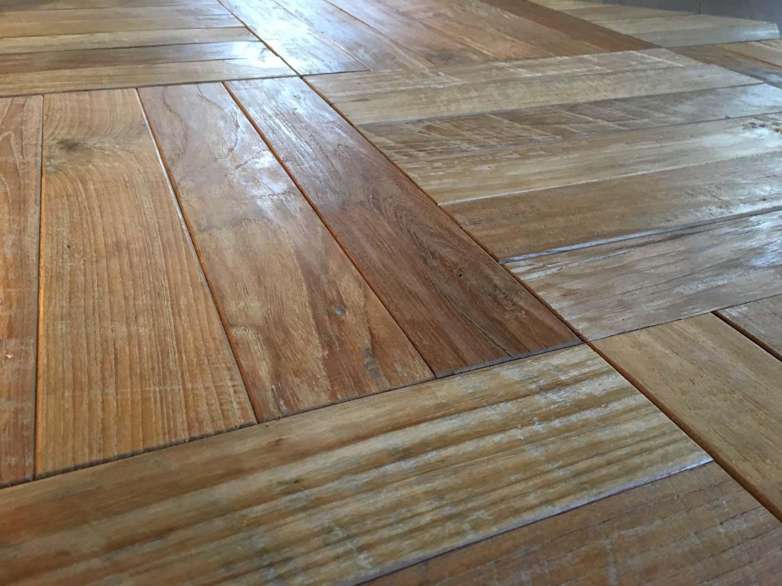 parquet basketweave - Reclaimed Teak Flooring