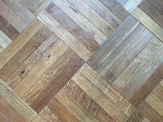parquet flooring03 - Reclaimed Custom Parquet Flooring