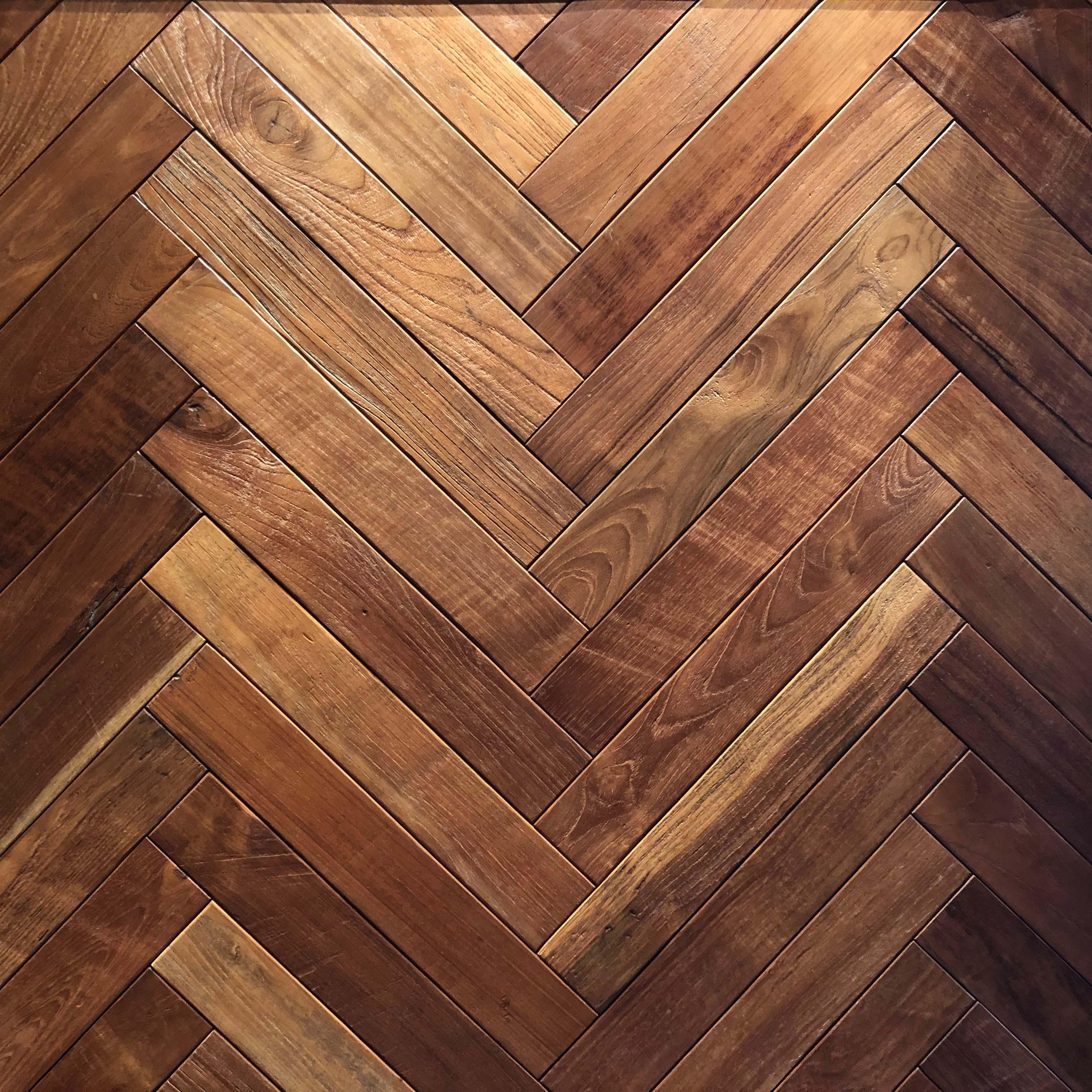 parquet herringbone2 - Reclaimed Teak Flooring