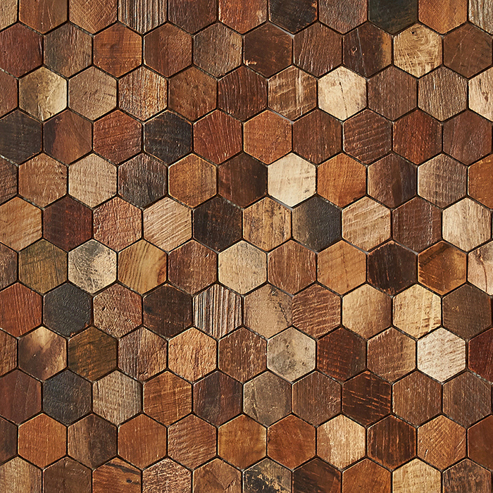 patina matte finish 1 - Teak Tile - Honeycomb