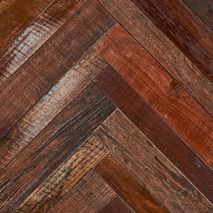 patina resin finish 1 - Teak Tile - Herringbone