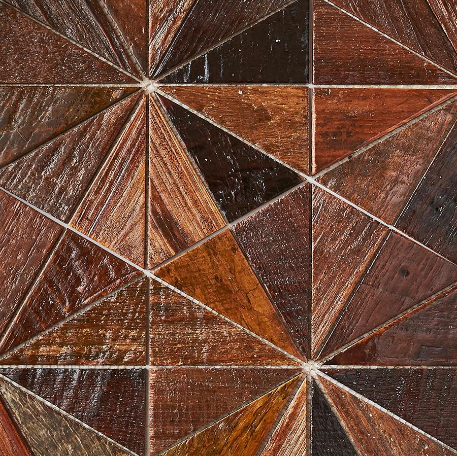 patina resin finish 6 - Teak Tile - Starburst