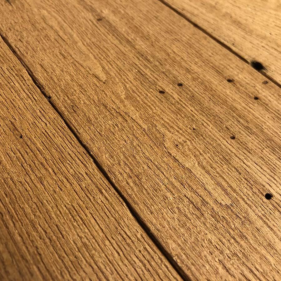 resawn chestnut barnwood2 - Reclaimed Planking Wormy Chestnut