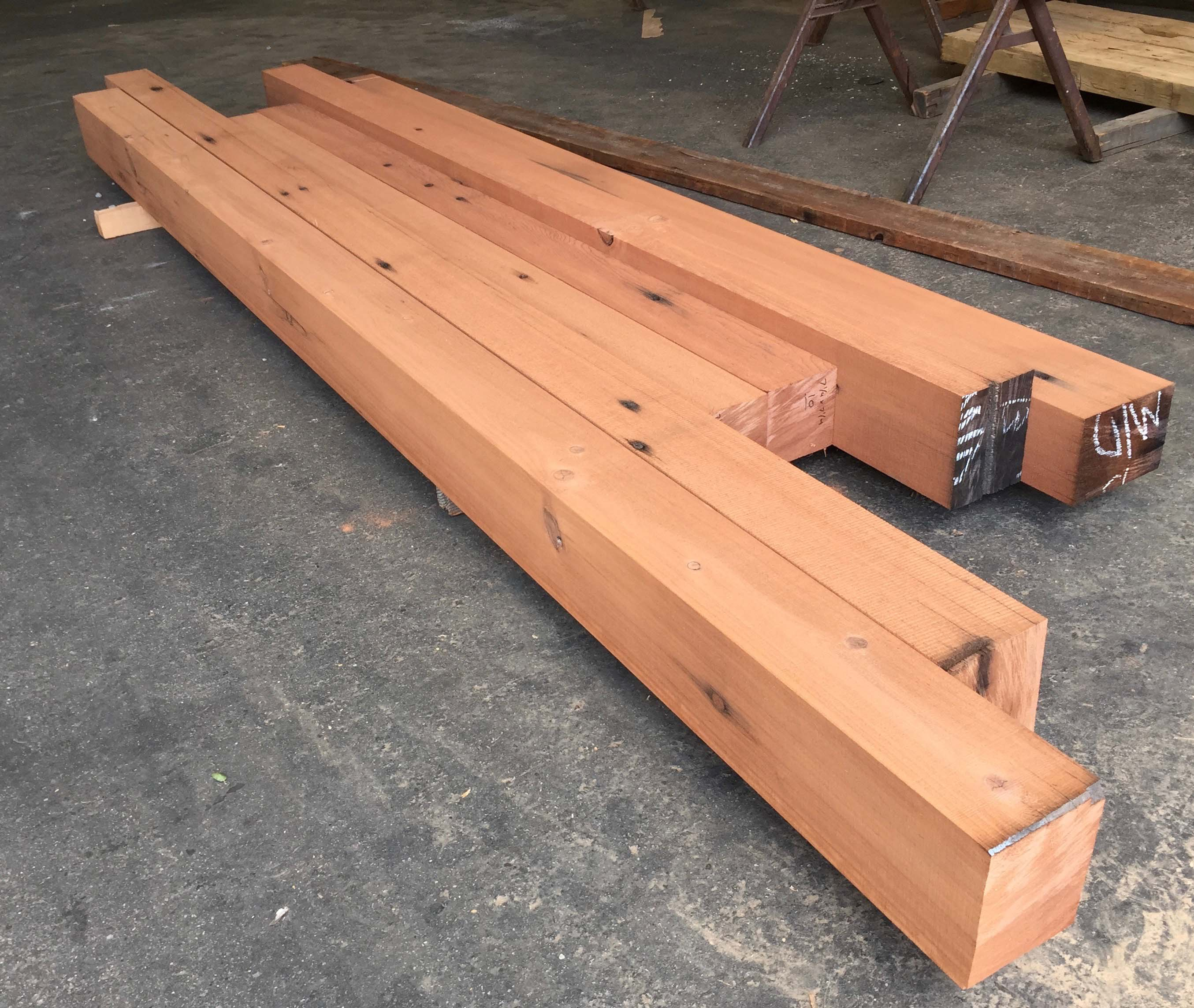 resawn redwood beams02 - Vintage Reclaimed Redwood