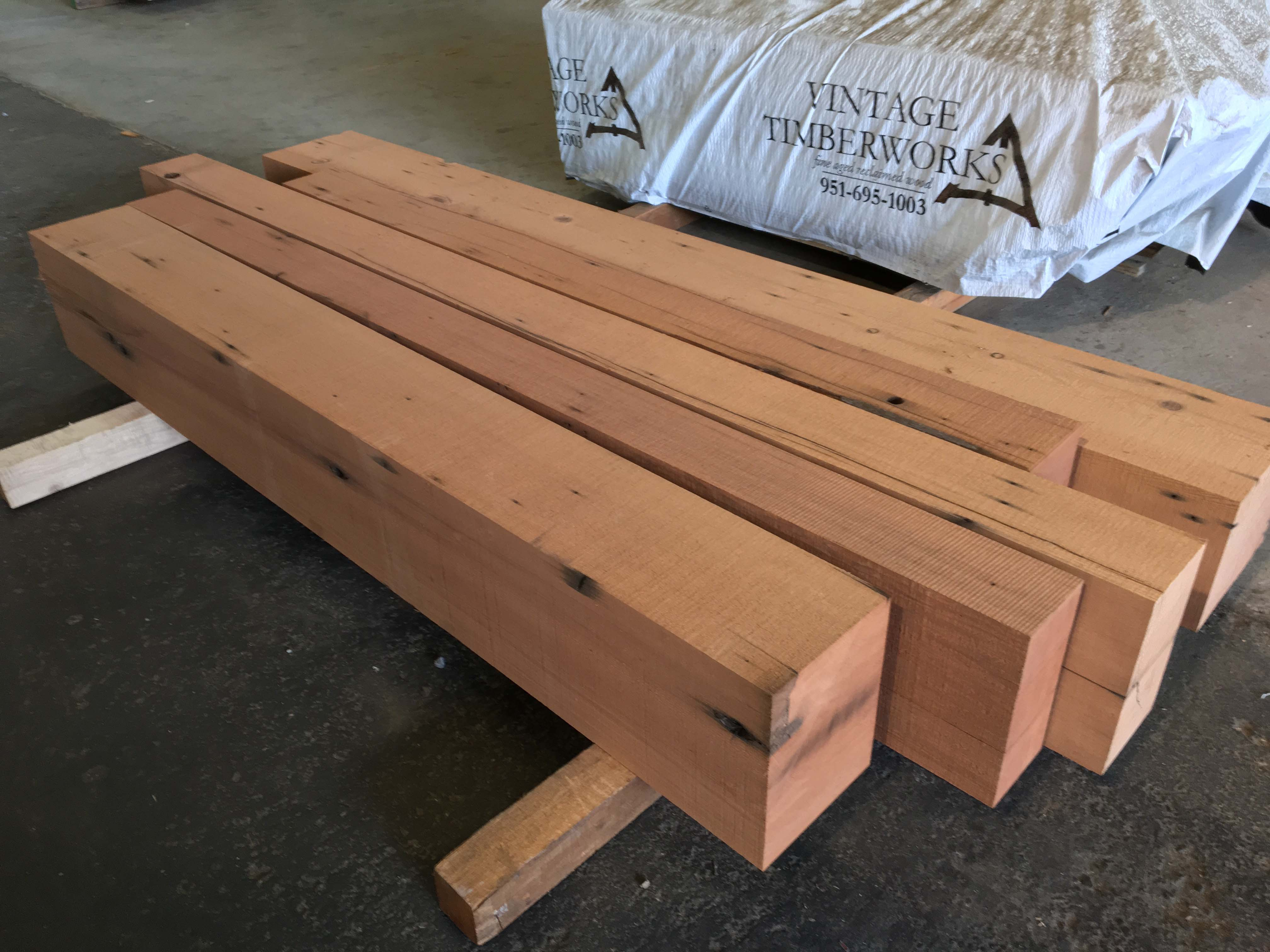 resawn redwood beams03 - Vintage Reclaimed Redwood