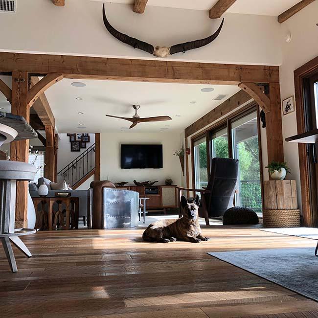 rustic oak flooring04 - Reclaimed Barn Oak