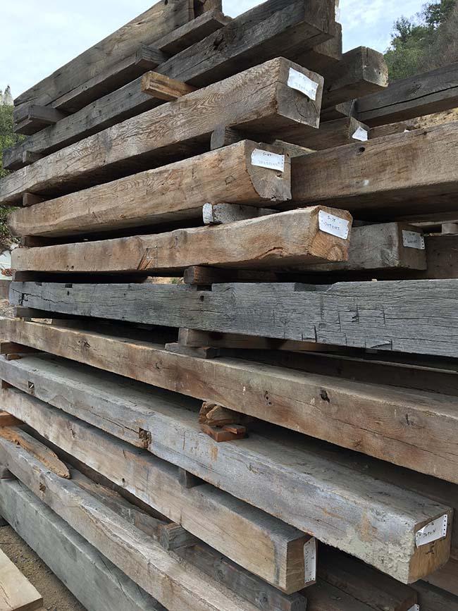 sawn hardwood beams14 - Reclaimed Hardwood Barn Timbers