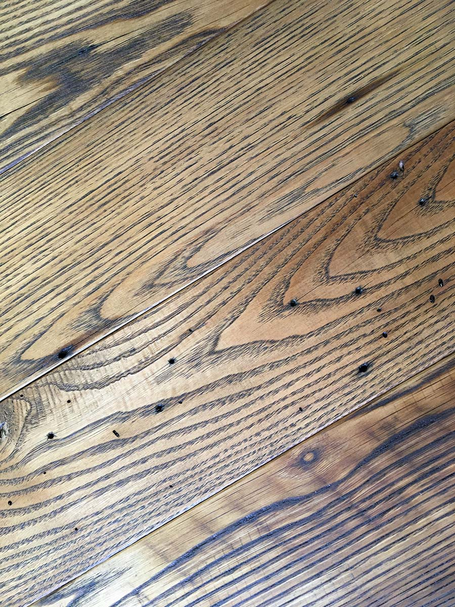 semi surfaced chestnut oil finish - Reclaimed Planking Wormy Chestnut