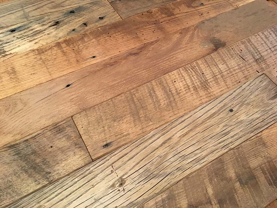 semi surfaced chestnut planking - Reclaimed Planking Wormy Chestnut