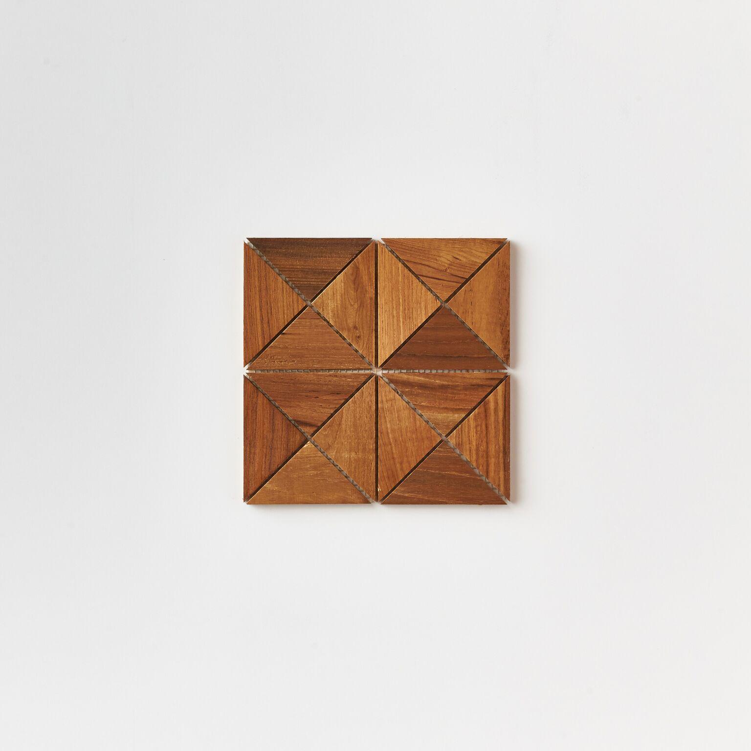 single tile - Teak Tile - Crosscut