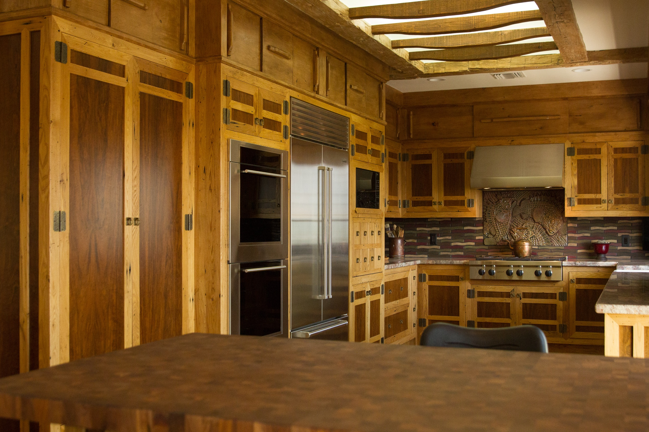 surfaced custom kitchen cabinets - Reclaimed Planking Wormy Chestnut