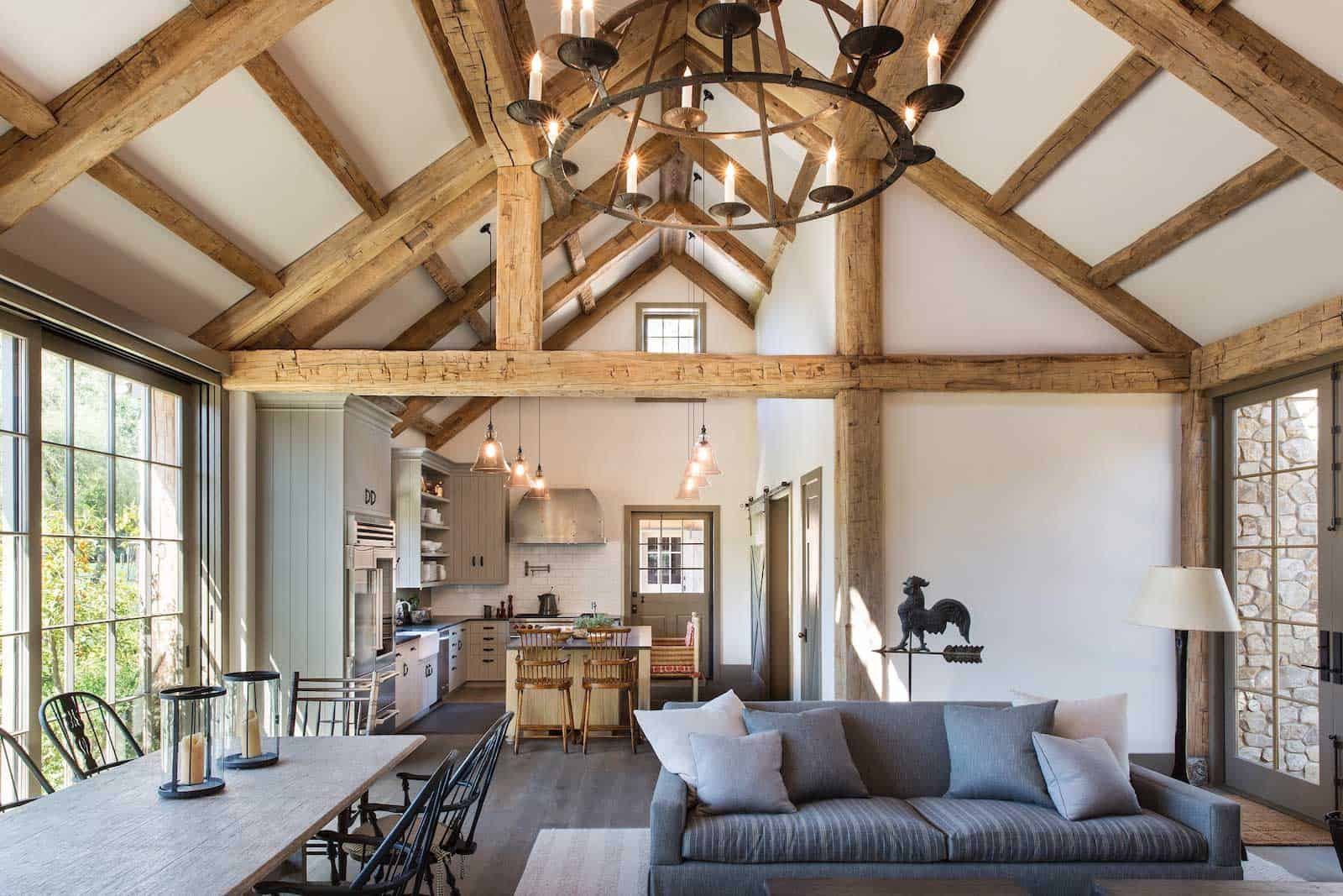 modern farmhouse with antique timbers