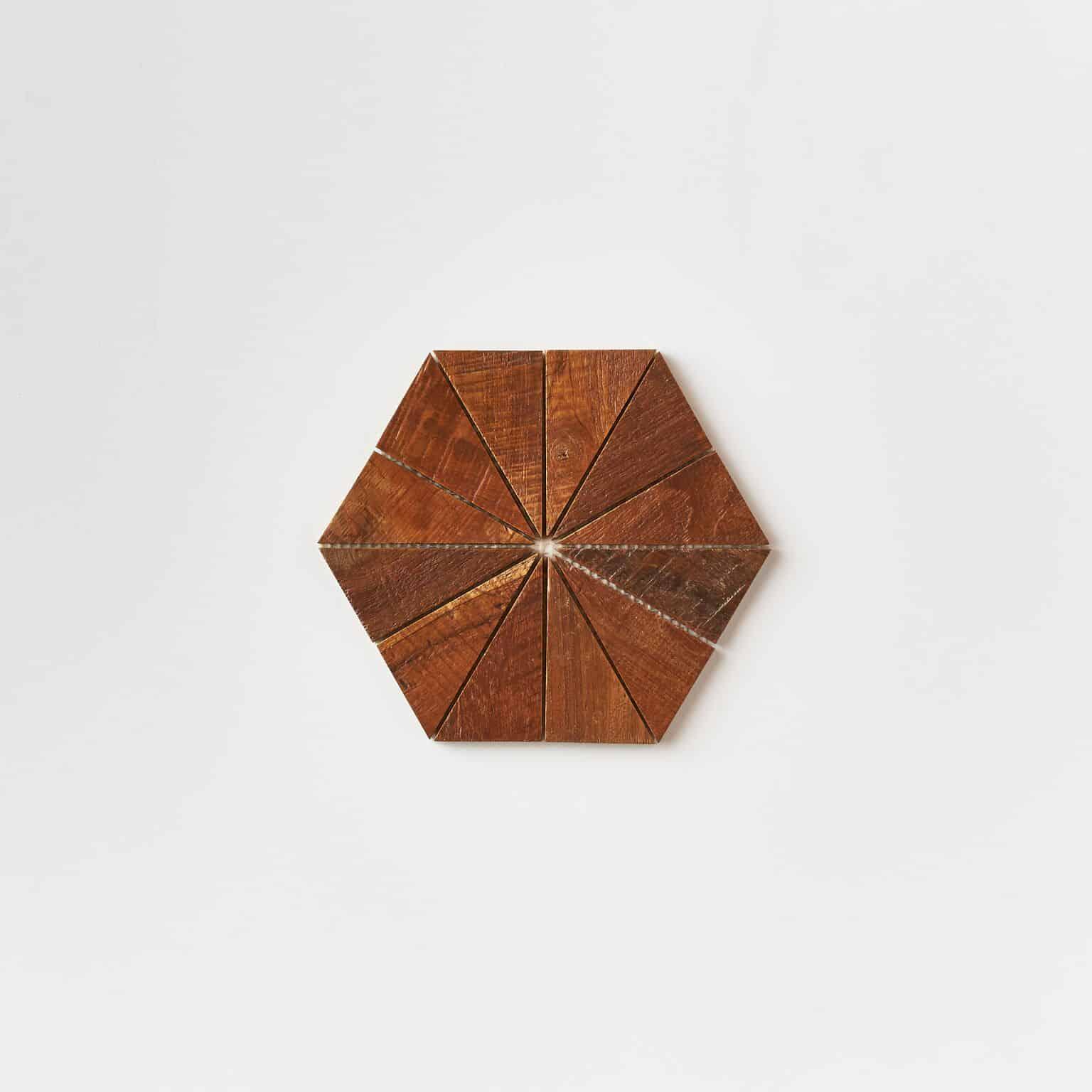 unspecified 35 - Teak Tile - Starburst