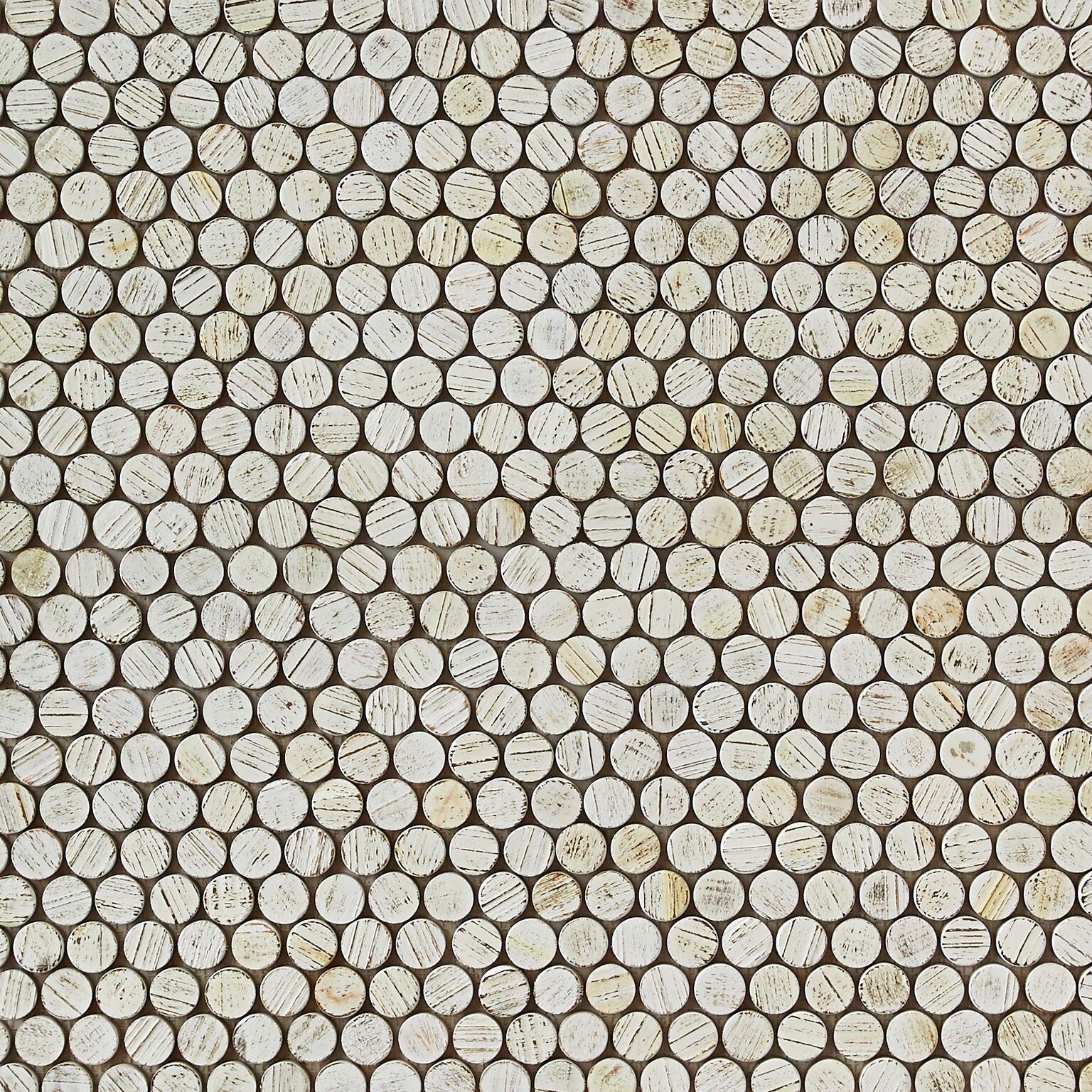 white matte finish 3 - Teak Tile - Bead