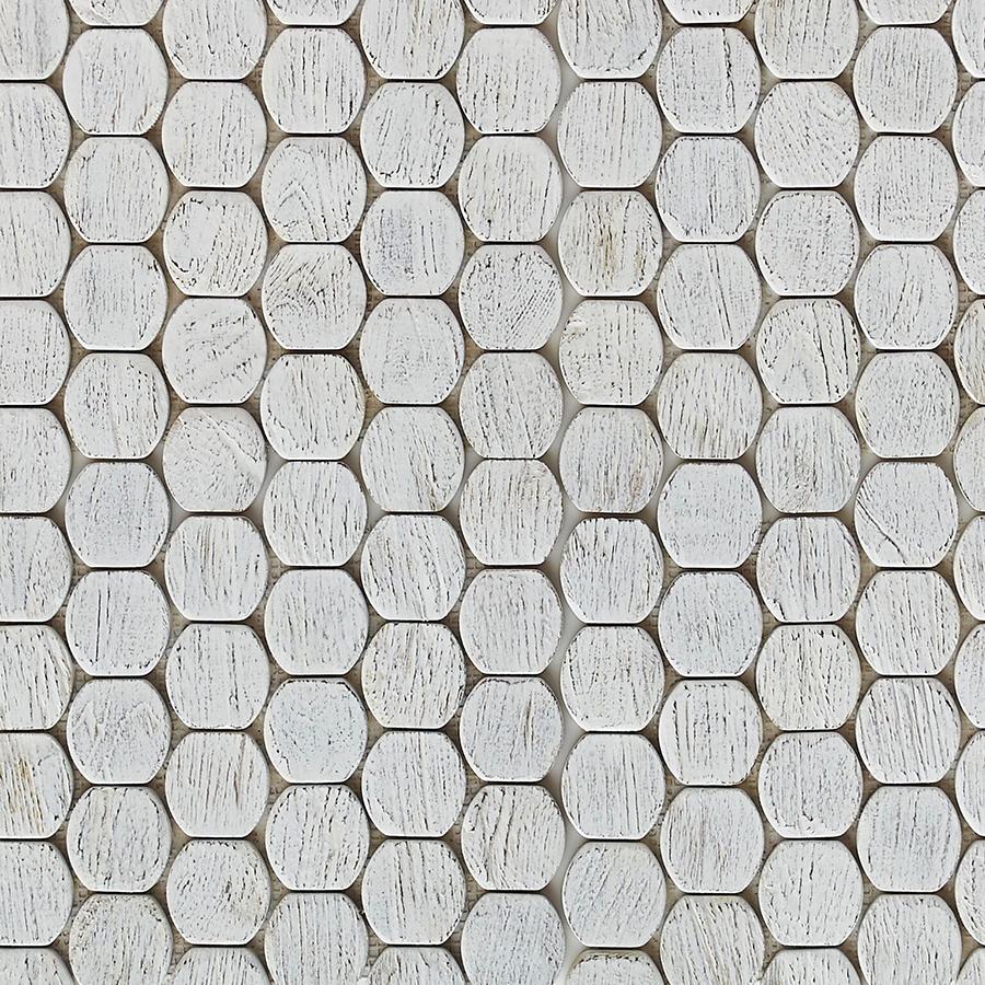 white matte finish 6 - Teak Tile - Cask