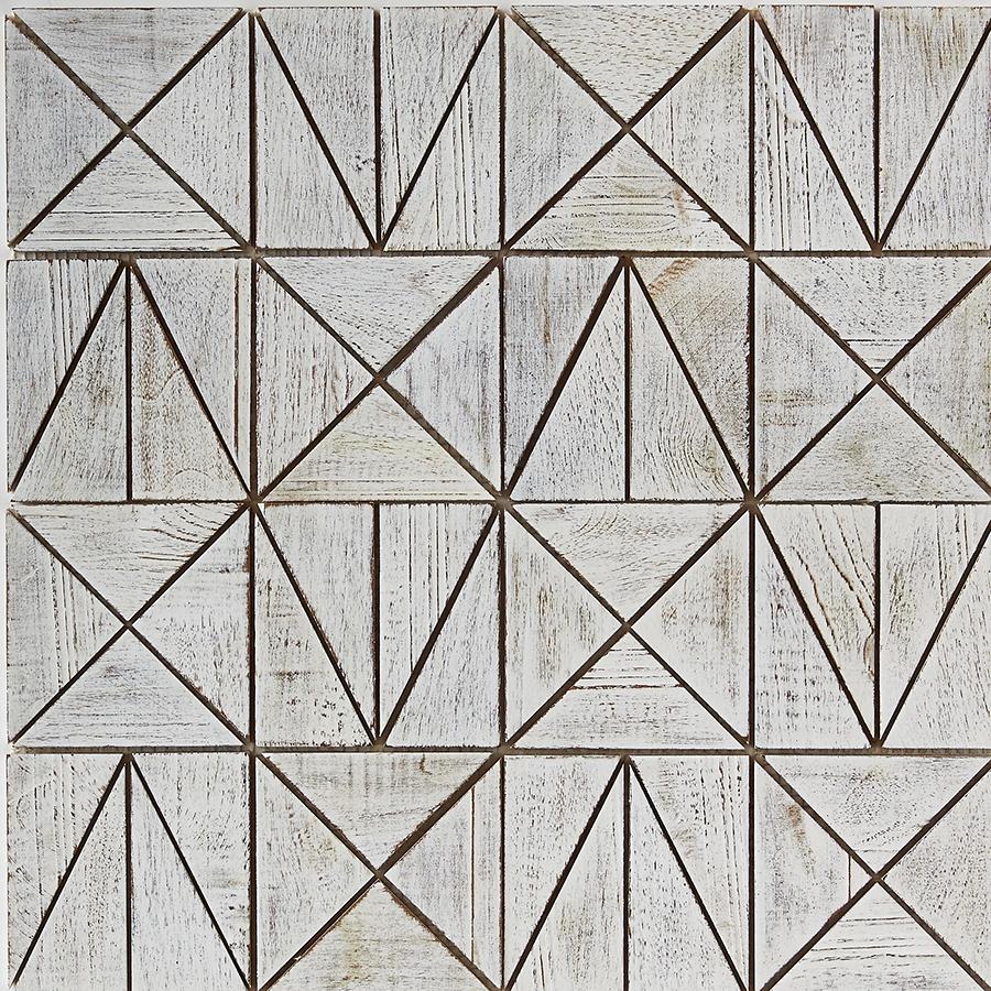 white matte finish 7 - Teak Tile - Rune