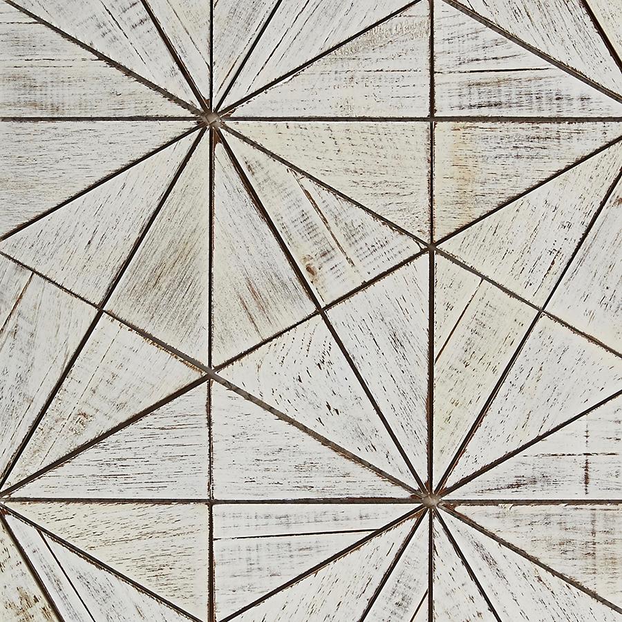 white matte finish 8 - Teak Tile - Starburst