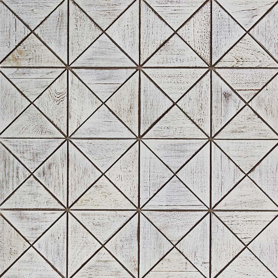 white matte finish 9 - Teak Tile - Crosscut