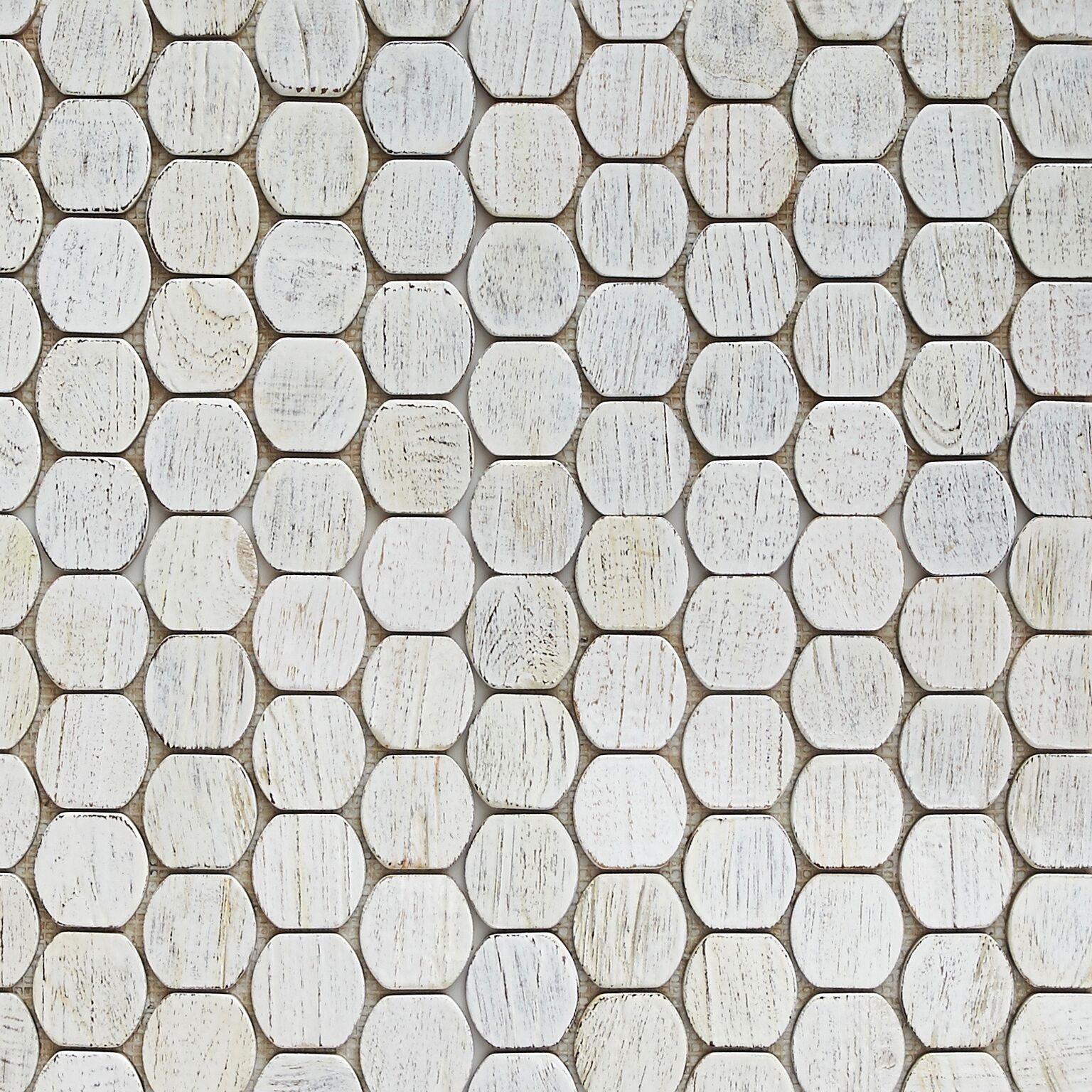 white resin finish 5 - Teak Tile - Cask