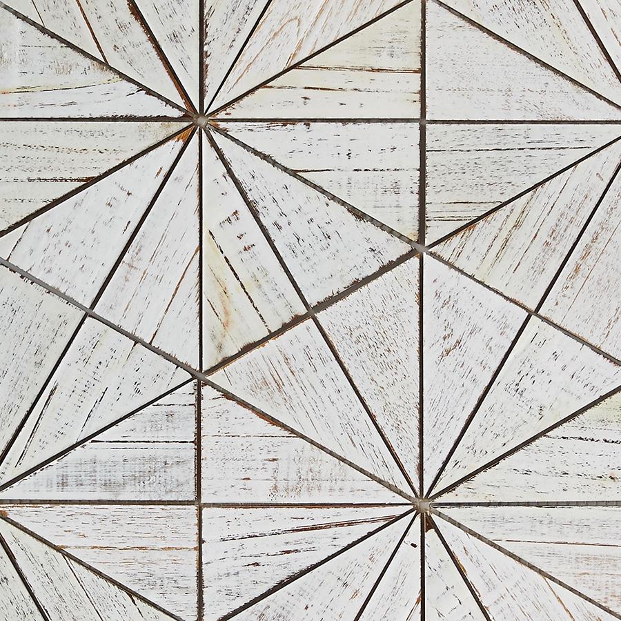white resin finish 7 - Teak Tile - Starburst